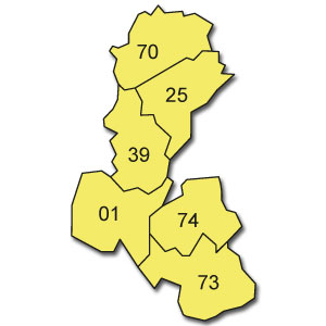 départements 52 - 54 - 55 - 57 - 67 - 68 - 88 - 90