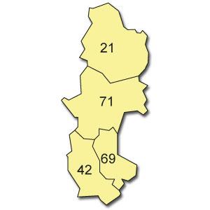 départements 10 - 18 - 28 - 45 - 58 - 89
