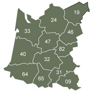 départements 22 - 29 - 35 - 44 - 53 - 56