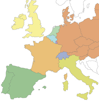Distributeurs Weser en Europe